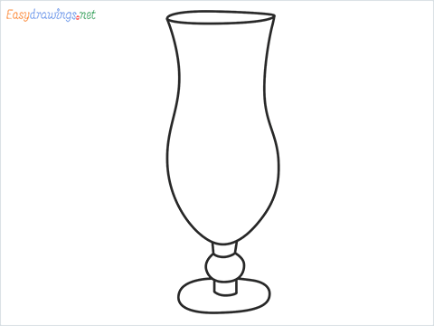 How to draw Hurricane glass step by step for beginners