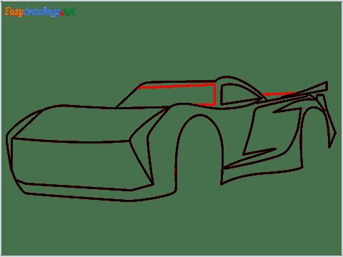 How to draw Jackson storm step (7)