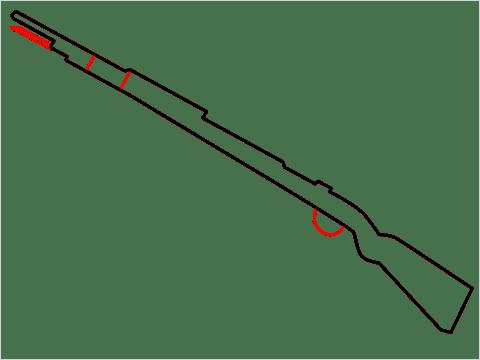How to draw KAR98K sniper step (3)