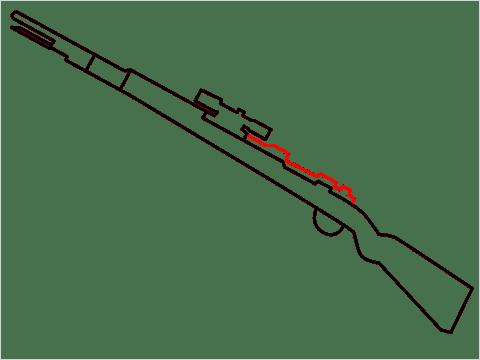 How to draw KAR98K sniper step (5)
