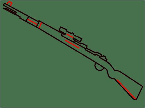 How to draw KAR98K sniper step (6)
