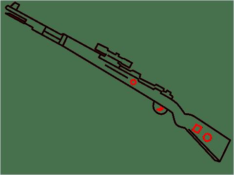 How to draw KAR98K sniper step (7)