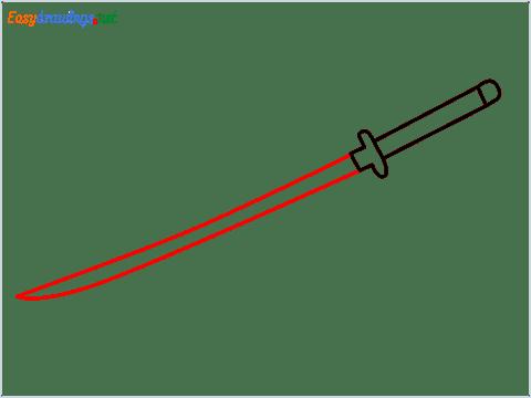 How to draw KATANA step (3)