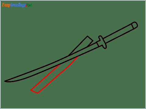How to draw KATANA step (5)