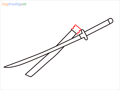 How to draw KATANA step (6)