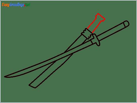How to draw KATANA step (7)