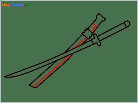 How to draw KATANA step (8)