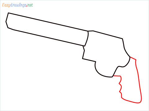 How to draw M500 Gun step (3)