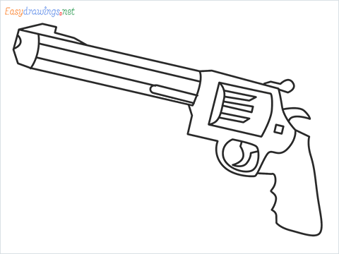 How to draw M500 Gunn step by step for beginners