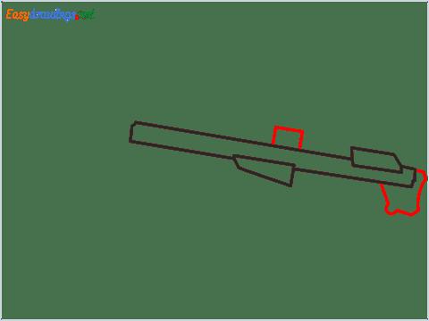 How to draw M82B Gun step (3)