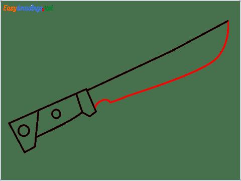 How to draw MACHETE step (5)