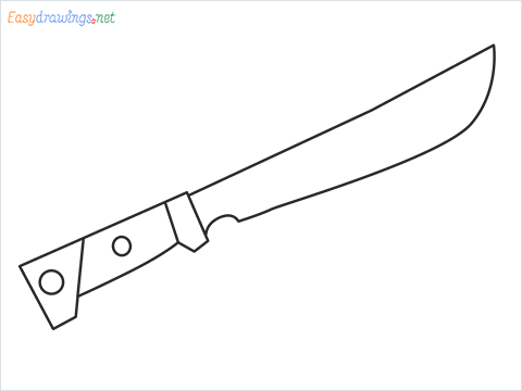 How to draw MACHETE step by step for beginners