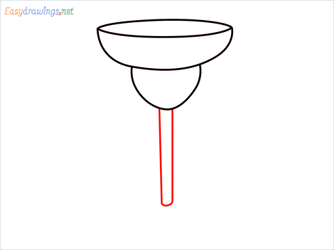 How to draw Margarita glass step (4)