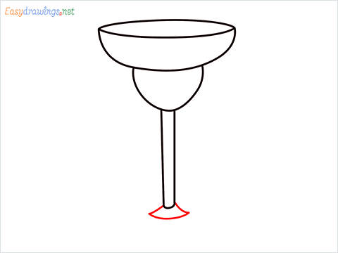 How to draw Margarita glass step (5)