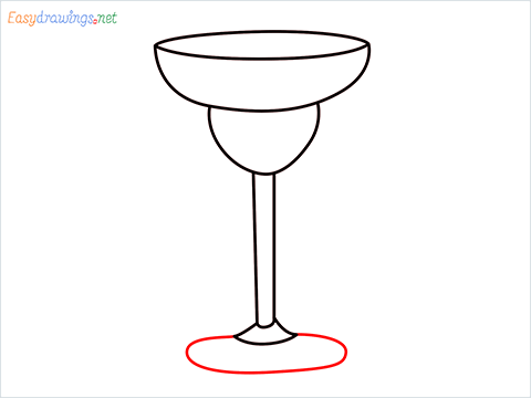 How to draw Margarita glass step (6)
