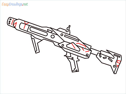 How to draw RGS50 Gun step (10)