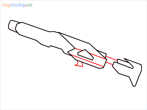 How to draw RGS50 Gun step (5)