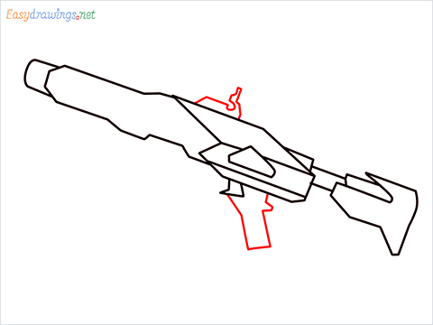 How to draw RGS50 Gun step (6)