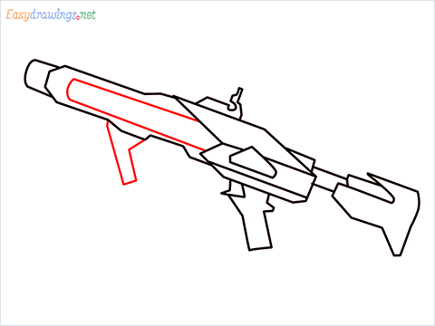 How to draw RGS50 Gun step (7)