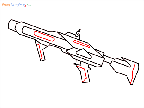 How to draw RGS50 Gun step (8)