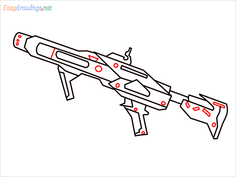 How to draw RGS50 Gun step (9)
