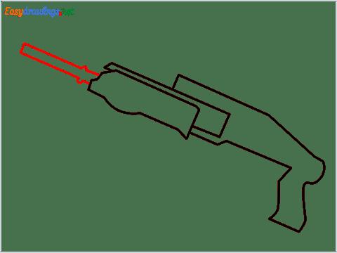 How to draw SPAS12 Gun step (4)