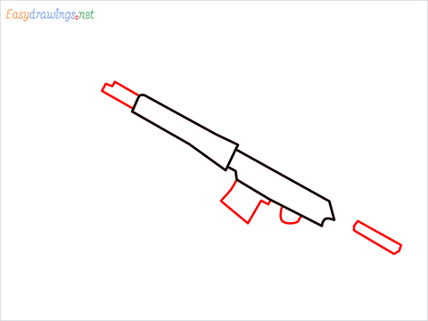 How to draw SVD Gun step (3)