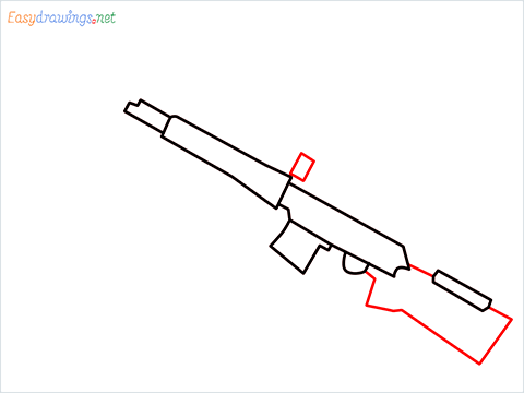 How to draw SVD Gun step (4)