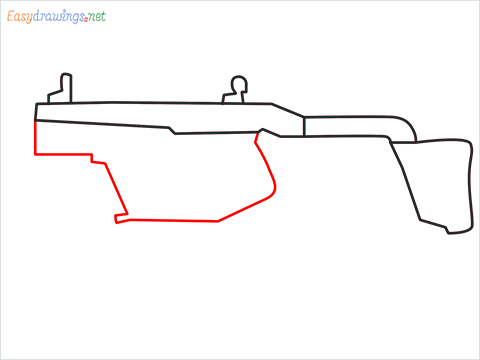 How to draw VECTOR Gun step (4)