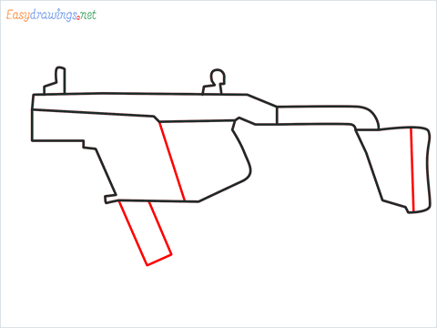 How to draw VECTOR Gun step (5)