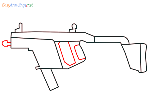 How to draw VECTOR Gun step (6)