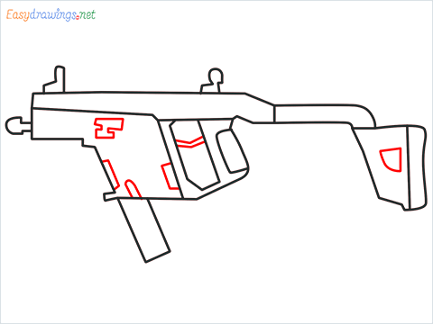 How to draw VECTOR Gun step (7)