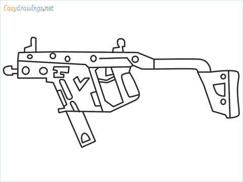 How to draw VECTOR Gun step by step for beginners