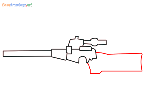 How to draw VSS sniper step (4)