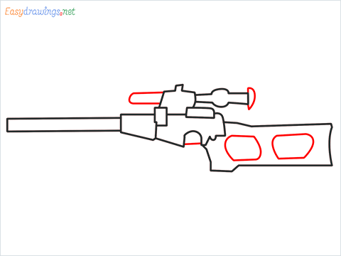 How to draw VSS sniper step (5)