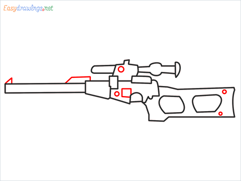 How to draw VSS sniper step (6)