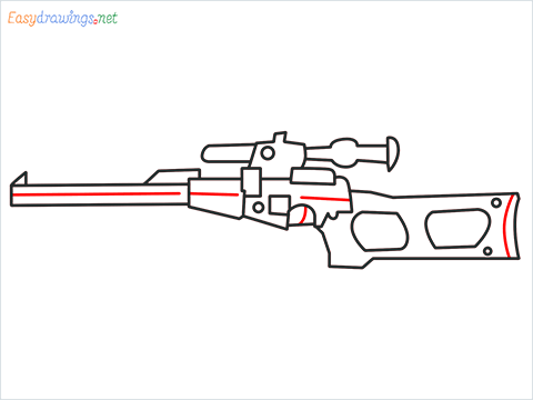 How to draw VSS sniper step (7)