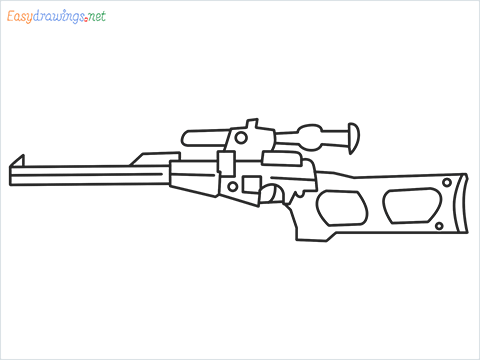 How to draw VSS sniper step by step for beginners