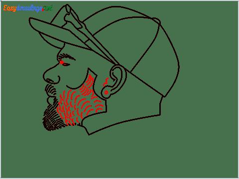 How to draw Virat Kohli step (10)