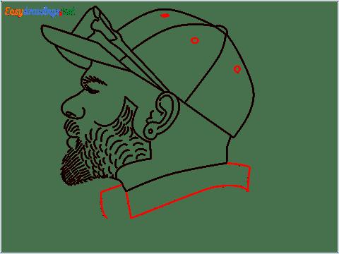 How to draw Virat Kohli step (11)