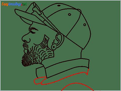How to draw Virat Kohli step (12)