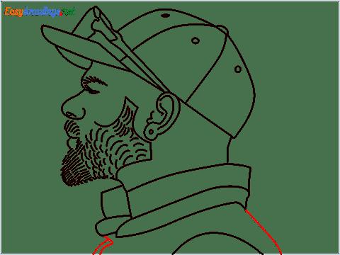 How to draw Virat Kohli step (13)