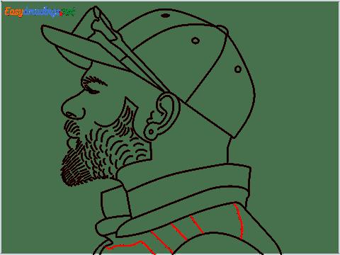 How to draw Virat Kohli step (14)