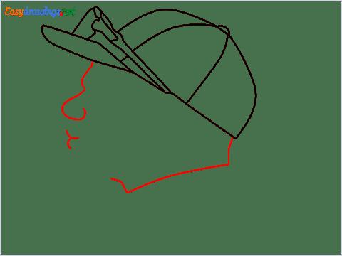 How to draw Virat Kohli step (6)