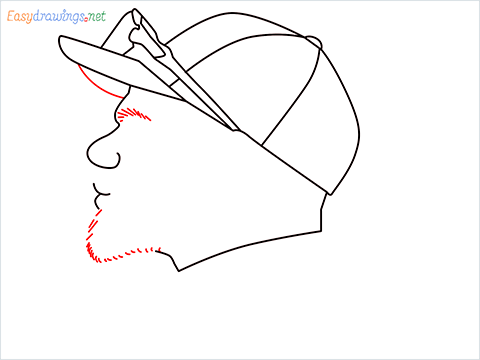 How to draw Virat Kohli step (7)