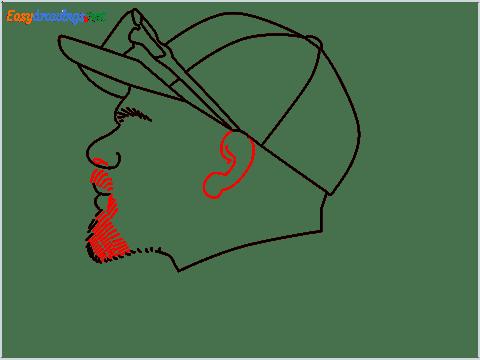 How to draw Virat Kohli step (8)