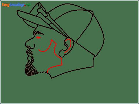 How to draw Virat Kohli step (9)
