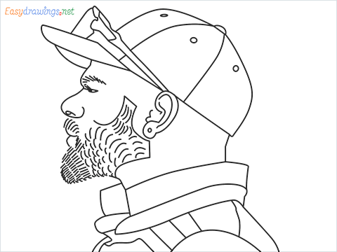 How to draw Virat Kohli step by step for beginners