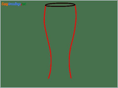 How to draw Weizen glass step (2)