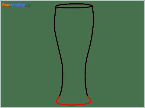 How to draw Weizen glass step (3)